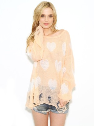 wildfox-white-label-all-over-love-lennon-sweater-in-coral-shell